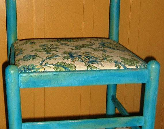 Items Similar Turquoise Wooden Chair Shabby Chic Hand