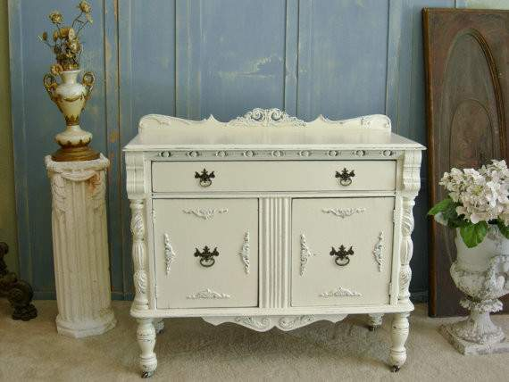 Items Similar White Painted Chest Shabby Chic