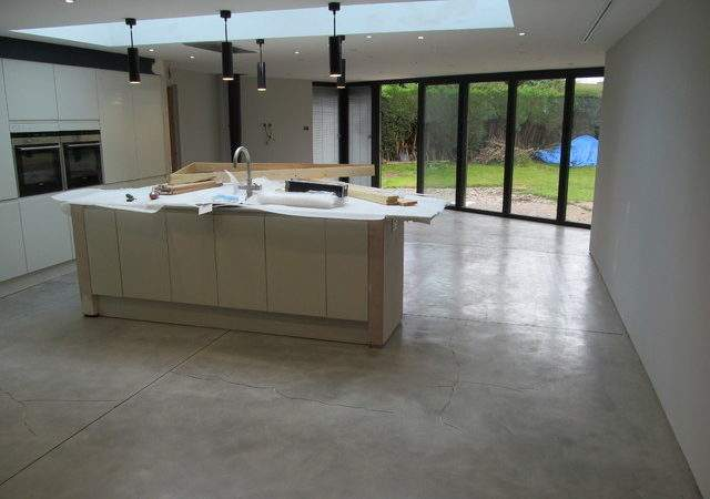 Its Industrial Looking Polished Concrete Effect