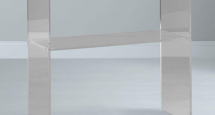 John Lewis Ice Console Table Clear Shopping