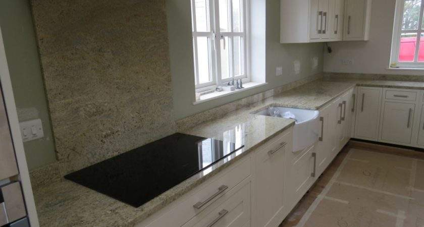 Kashmir Gold Granite Kitchen Worktops Splashback