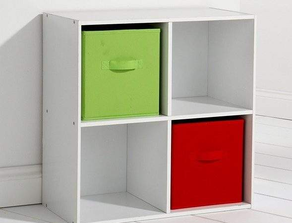 Kids Bedroom Storage Cube System White Shelving Colour