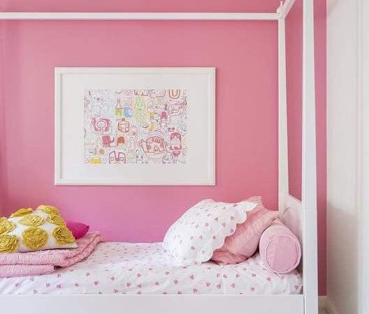 Kids Canopy Bed Transitional Girl Room Domino Magazine