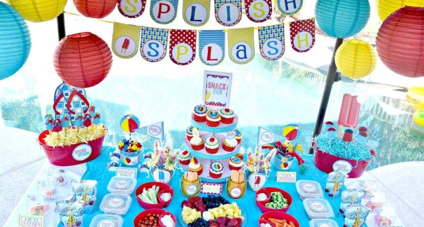 Kids Pool Party Decorations Home Ideas