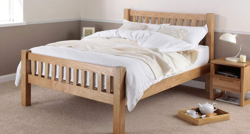 King Oak Bed Frame Shop Cheap Beds Save
