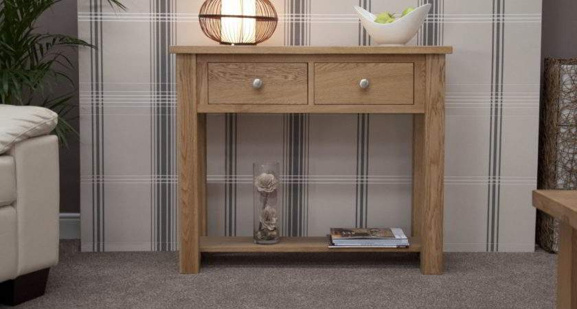 Kingston Solid Oak Hallway Furniture Small Console Hall