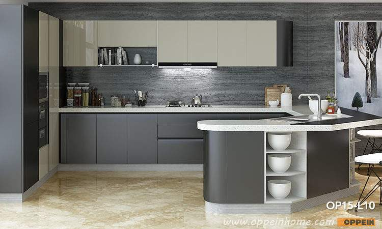 Kitchen Cabinet High Gloss Lacquer Cabinets