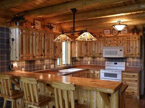 Kitchen Cabinets Cabin Interior Design