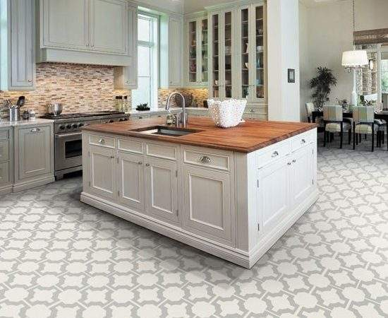 Kitchen Flooring Options Tile Ideas White Cabinets