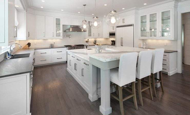Kitchen Island Shaped Breakfast Bar Design Ideas