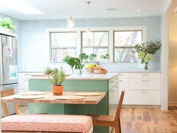 Kitchen Islands Tables Simple But Very Clever Combo