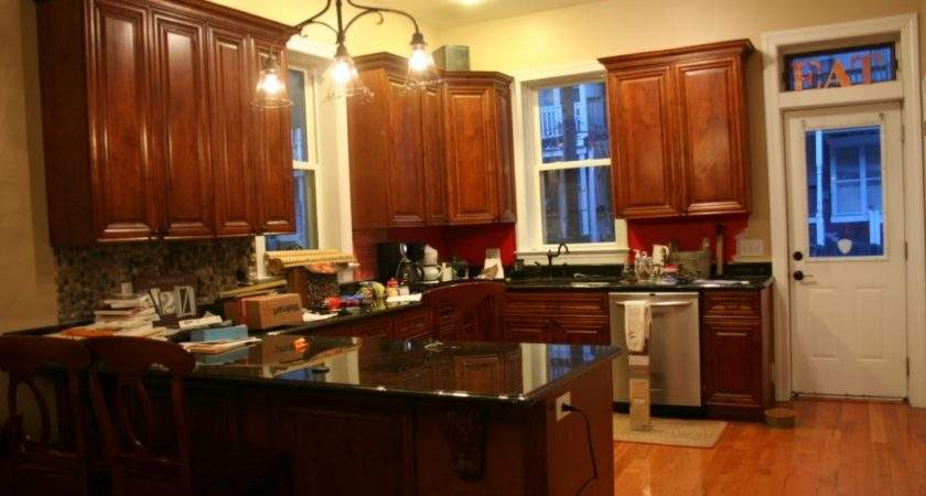 Kitchen Paint Colors Dark Brown Wooden Cabinets