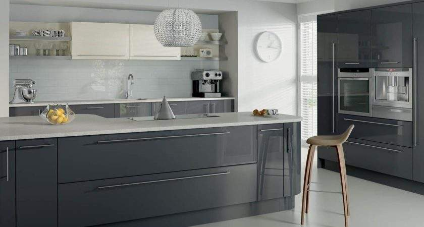 Kitchen Related Post High Gloss Light Grey