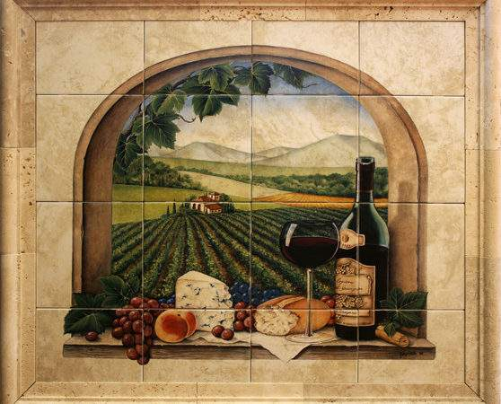 Kitchen Wall Mural Tiles Home