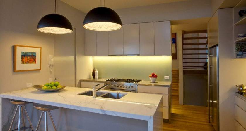 Kitchen White Island Breakfast Bar Feature