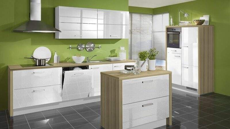 Kitchens Modern Two Tone Kitchen Cabinets