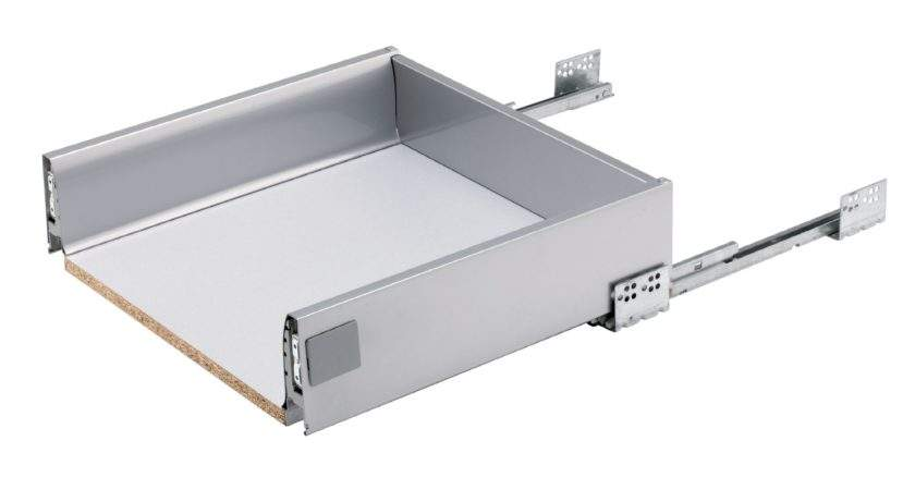 Kitchens Stainless Steel Effect Drawer Box