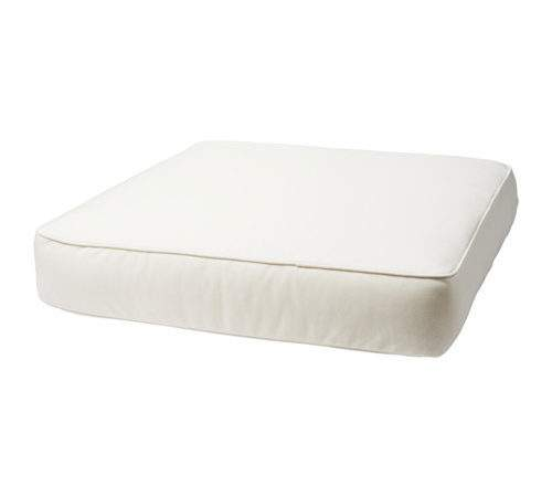 Kungs Seat Cushion Outdoor White Ikea