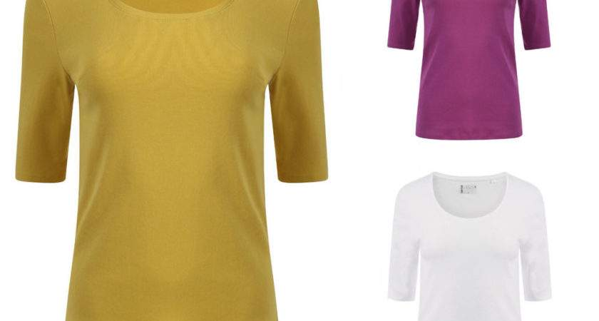 Ladies Womens Marks Spencer Pure Cotton Scoop Neck