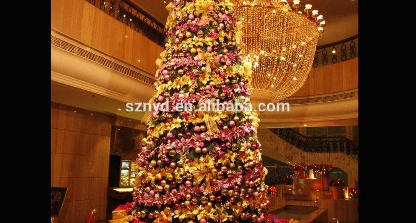 Large Artificial Lighted Indoor Christmas Tree Decoration