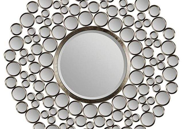 Large Beveled Round Mirror Eclectic Wall Mirrors