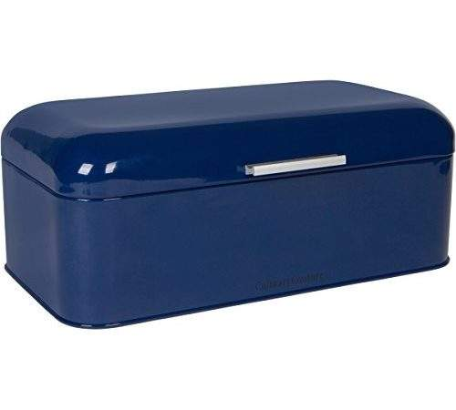 Large Blue Bread Box Powder Coated Stainless Steel
