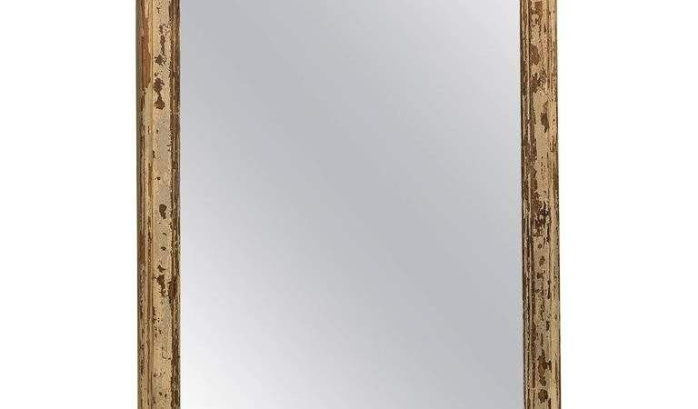 Large Distressed French Pine Mirror Stdibs