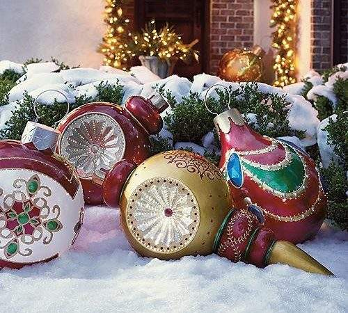 Large Exterior Christmas Decorations Photograph Outdoo