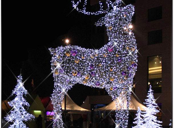 Large Lighted Reindeer Christmas Decoration