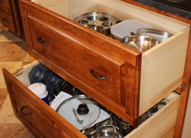 Large Pots Pan Drawers Healthycabinetmakers