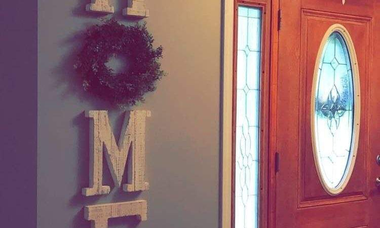 Large Wooden Letters Home Decor Farmhouse Style