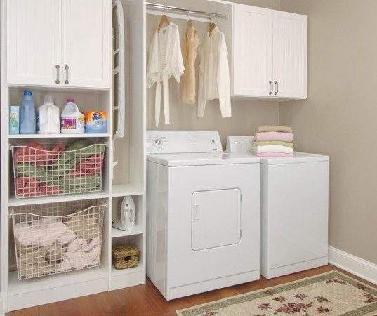 Laundry Room Storage Cabinets Shelves Home Interiors