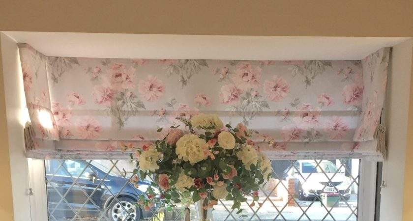Laura Ashley Beatrice Fabric Kitchen Roman Blinds