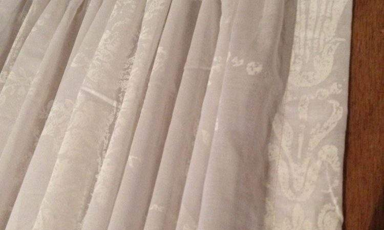Laura Ashley Josette Voile White Curtains Made Measure