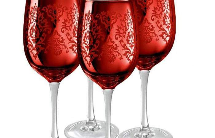 Lead Crystal Wine Amp Champagne Glasses Wayfair Red
