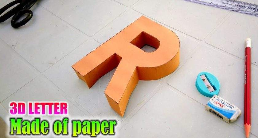 Learn Make Letters Paper Letter Youtube