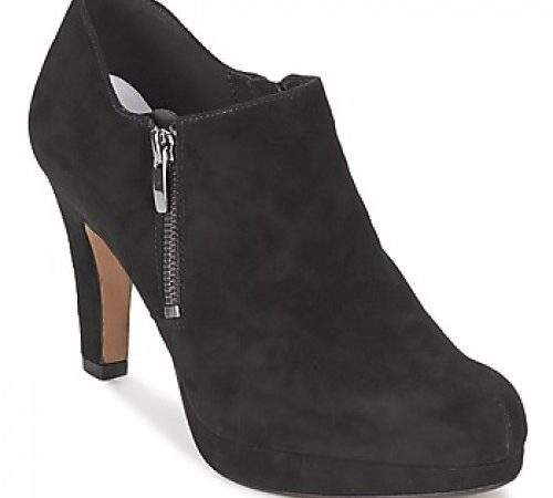 Leather Clarks Amos Kendra Black Suede Shoes Shoe Boots