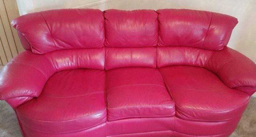 Leather Sofa Design Hot Pink Awesome