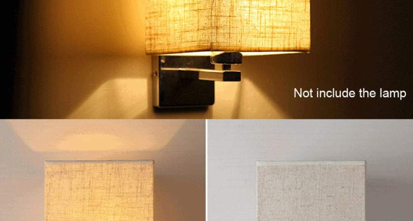 Led Cloth Wall Lamp Sconce Light Hotel Reading