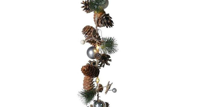 Led Cone Bauble Garland Achica