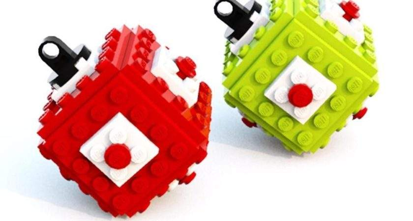 Lego Bauble Green Red Christmas Tree Ornament Pair Ebay