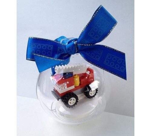 Lego City Fire Truck Holiday Bauble