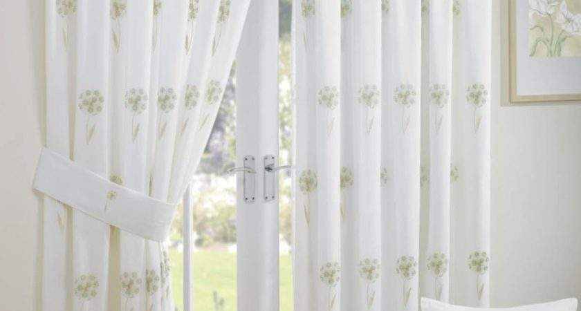 Libby Voile Readymade Curtain Green Delivery