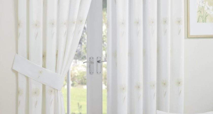 Libby Voile Readymade Curtain Natural Delivery