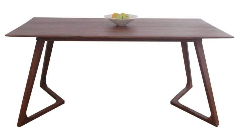 Libra Dark Wood Retro Style Dining Table Fusion