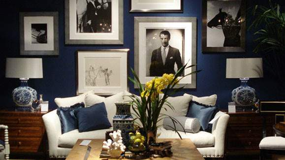 Library Design Feeling Blue Why Navy Interiors