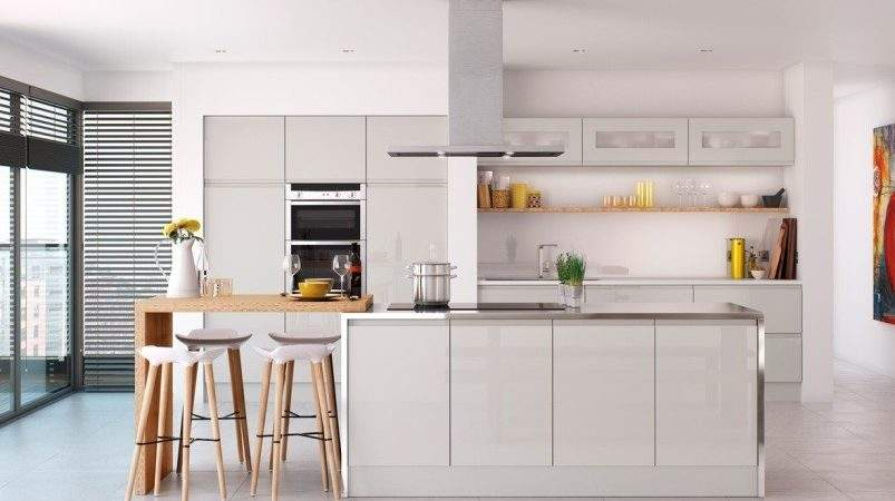 Light Grey Gloss Kitchen Launched Value Range