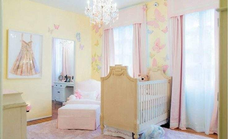Light Yellow Pink Girl Nursery Misty