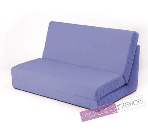 Lilac Fold Out Bed Double Chair Seat Sofa Guest