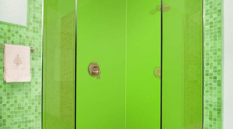 Lime Green Acrylic Shower Panels Splash
